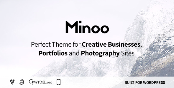 Download Minoo - WordPress Theme for Creative Businesses, Portfolio and Photographers Fast WordPress Themes