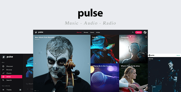Download pulse - Music, Audio, Radio Template Black Html Templates