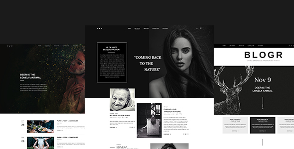 Download BLOGR – PSD template for Special BLOGGERS White Blogger Templates