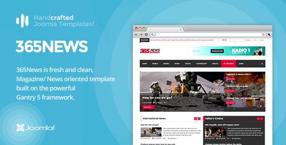 Download IT 365News - News/ Magazine Joomla Template Gantry 5 Video Joomla Templates
