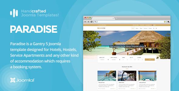 Download IT Paradise - Gantry 5, Hotel & Booking Joomla Template Video Joomla Templates