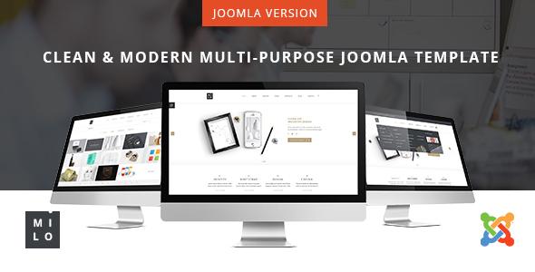 Download Milo - Clean & Modern Multi-Purpose Joomla Template Clean Joomla Templates