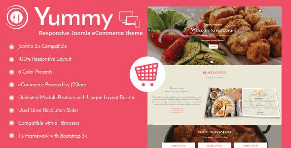 Download Yummy - Responsive Joomla Restaurant Template Restaurant Joomla Templates