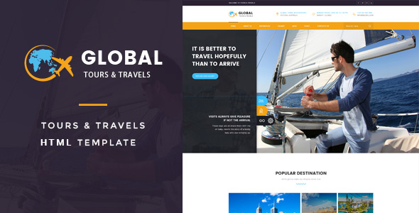 Download Global - Tours & Travels HTML Template Travel Html Templates