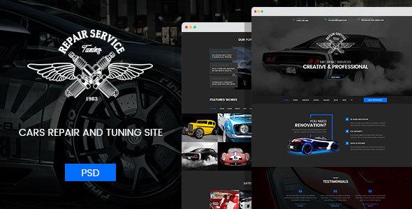 Download Mechanic - Car Repair, Tuning, Routine Maintenance PSD Template Car Joomla Templates