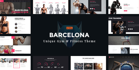 Download Barcelona - Theme for Fitness Gym and Fitness Centers Cute Html Templates