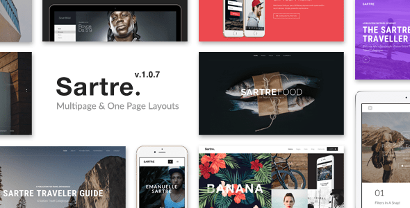 Download Sartre - Creative Multipurpose HTML Template Youtube Html Templates