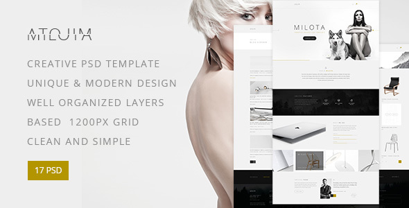 Download Milota — Modern Studio, Personal Portfolio and Blog PSD Template Store Blogger Templates