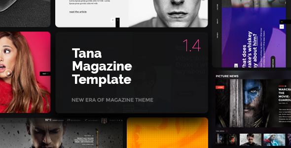 Download Magazine Tana - News, Music, Movie, Blog, Fashion Template Newspaper Html Templates