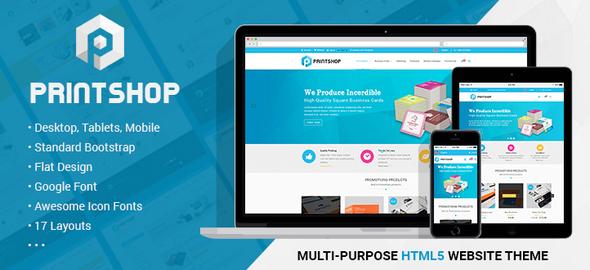 Download Printshop - Responsive HTML Printing Template Newspaper Html Templates