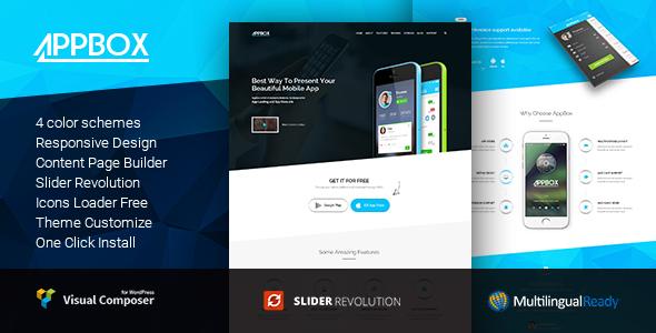 Download AppBox - App  Landing & App Store WordPress Theme Store WordPress Themes