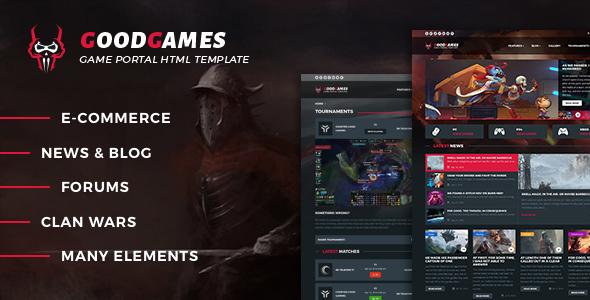 Download Good Games - Portal / Store HTML Gaming Template Portal Html Templates