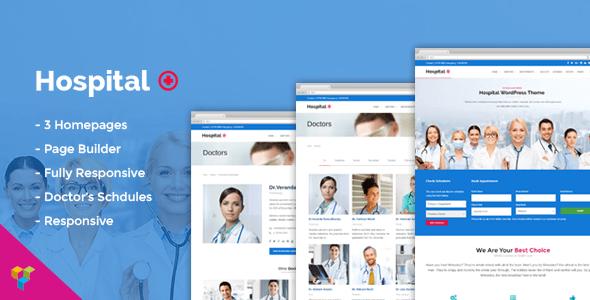 Download Hospital Medical Doctor WordPress Theme - Hospital+ Hospital WordPress Themes