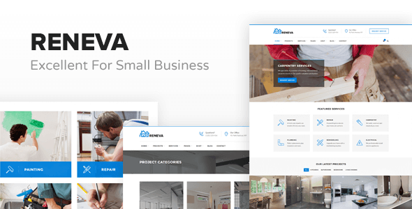 Download Reneva -  Small Business HTML Template Business Html Templates