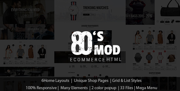 Download 80's Vintage / Retro Styled Ecommerce Template Retro Html Templates