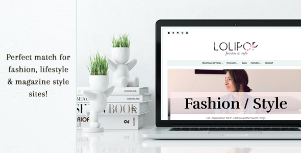 Download Lolipop - Fashion WordPress Theme School Blogger Templates