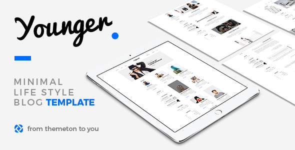 Download Young Blogger - Simple Clean Blog Template White Blogger Templates
