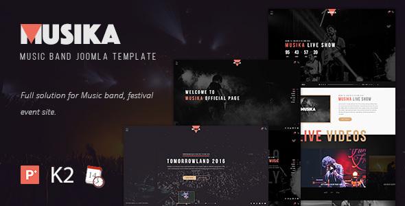 Download Musika - Music Festival & Band Joomla Template Music Joomla Templates