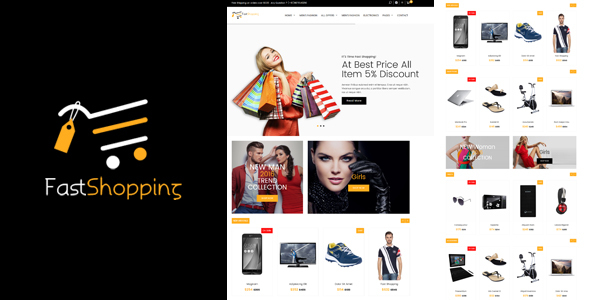 Download Fast-Shopping, Multipurpose Bootstrap html 5 Ecommerce Template Fast Html Templates