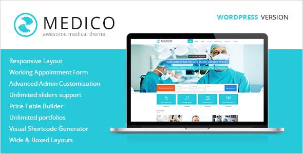 Download Medico - Medical & Health WordPress Theme Health WordPress Themes