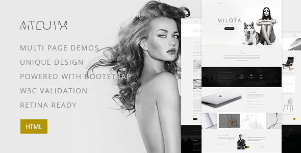 Download Milota — Modern Personal/Studio Portfolio and Blog HTML Template Store Blogger Templates