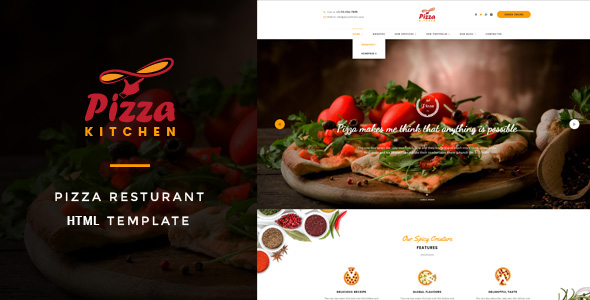Download Pizza Kitchen - Pizza & Fast Food HTML Template Fast Html Templates