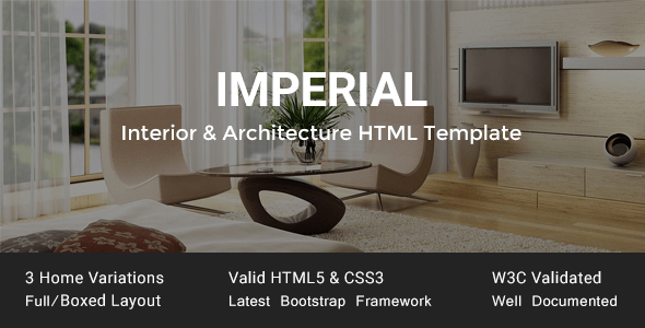 Download Imperial - Interior & Architecture HTML Template Interior Html Templates