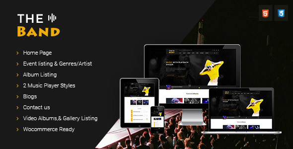 Download TheBand Music Band Html Template Music Html Templates