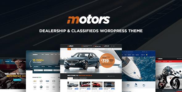 Download Motors - Automotive, Cars, Vehicle, Boat Dealership, Classifieds WordPress Theme Automotive WordPress Themes