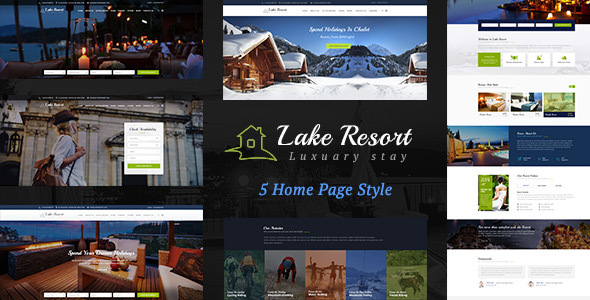 Download Lake Resort : Resort and Hotel HTML Template Hotel Html Templates