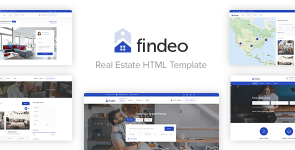 Download Findeo - Real Estate HTML Template Youtube WordPress Themes