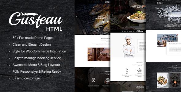 Download Gusteau – Elegant Food and Restaurant HTML Template Elegant Html Templates
