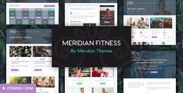 Download Meridian Fitness - Fitness, Gym, & Sports WordPress Theme 3 Column WordPress Themes