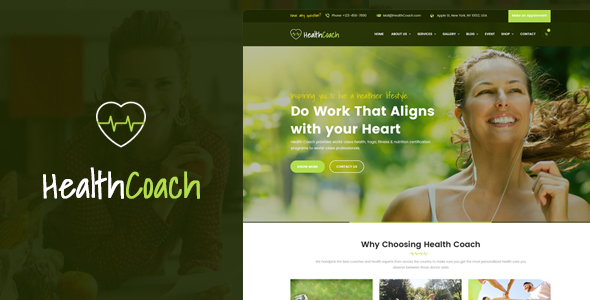 Download Health Coach - WordPress Theme for Fitness, Health, Personal, Life Coaching Website Health WordPress Themes