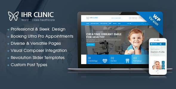 Download IHR Clinic - Medical and Health Care WordPress theme Health WordPress Themes