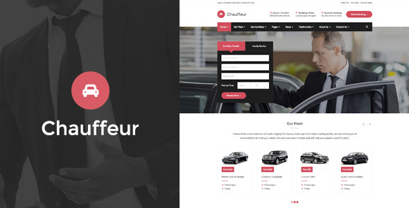 Download Chauffeur - Limousine, Transport And Car Hire HTML Template Car Html Templates