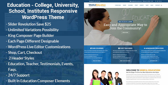 Download Education WordPress Theme - Education WP Education WordPress Themes