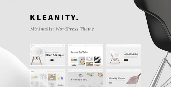 Download Kleanity - Minimalist WordPress Theme / Creative Portfolio Minimalist WordPress Themes