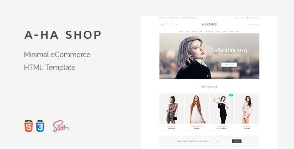 Download A-ha Shop | Minimal Elegant eCommerce HTML Template Elegant Html Templates