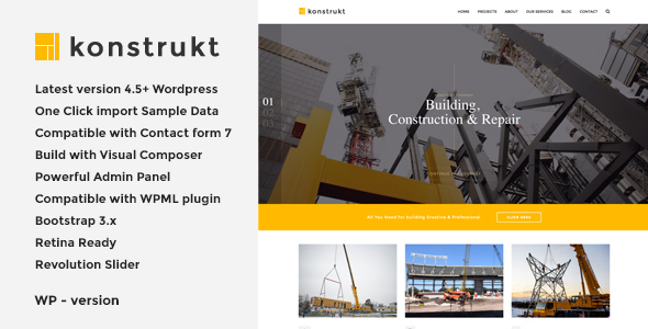 Download Konstrukt - Construction & Building WordPress Theme Amp WordPress Themes