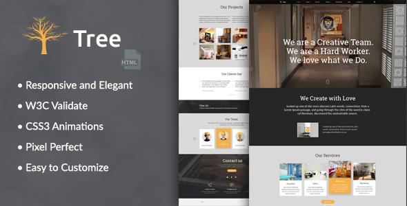 Download Tree - Interior Design, Architecture Business HTML Template Interior Html Templates
