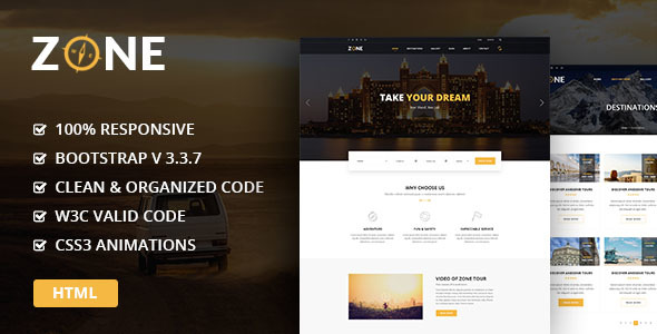 Download Zone - Tours and Travel HTML Template Travel Html Templates