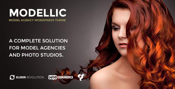 Download Modellic - WooCommerce & Booking Model Agency WordPress Theme Black WordPress Themes
