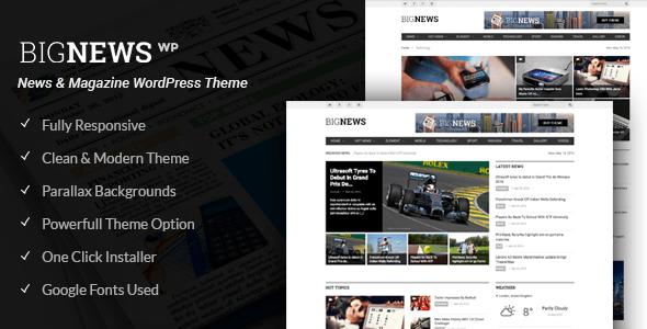 Download Big News - Newspaper WordPress Theme (News, Magazine, Blog) Newspaper WordPress Themes