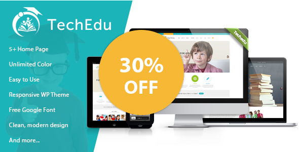 Download TechEdu – Education WordPress Theme Education WordPress Themes