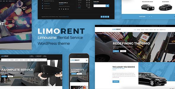 Download Limo Rent - Limousine and Car Rent WordPress Theme Car WordPress Themes