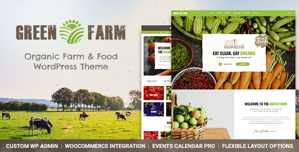 Download Green Farm - Organic Food Farm & Eco Food Store WordPress Theme Green WordPress Themes