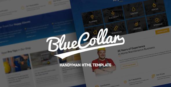 Download Blue Collar - Handyman HTML Template Blue Html Templates