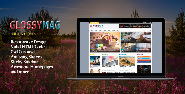 Download Glossy Mag - News Magazine HTML Template News Html Templates