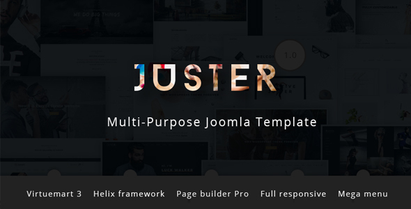 Download Juster - Multi-Purpose Joomla Template with Page builder and Virtuemart Vintage Joomla Templates